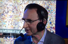 Martin O'Neill was analysing the Super Bowl on BBC