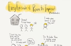 This cartoon sums up every episode of Room To Improve perfectly
