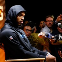 Angry Cam Newton cuts news conference short after Super Bowl loss