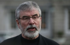Gerry Adams has responded to Enda's comments linking IRA weapons to Friday's shooting