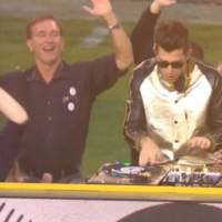 An enthusiastically dancing 'dad' was the real star of the Super Bowl