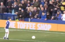 9-year-old fan with cerebral palsy reacts after winning Everton Goal of the Month