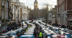 In photos: Taxi drivers brought central London to a standstill in protest over Uber