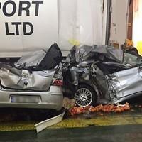 PHOTOS: Irish ferry badly damaged after sailing into Storm Imogen
