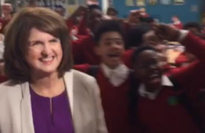 Joan Burton went back to school today and got one hell of a reception