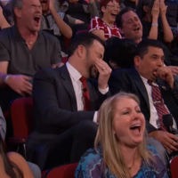Watch this Jimmy Kimmel audience's reaction to a movie clip that was too graphic for TV