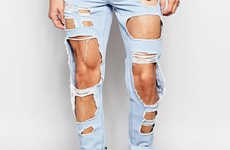 It's official, distressed jeans have gone too far