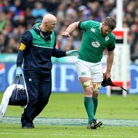 Sean O'Brien suffers hamstring injury while Kearney 'out for some time'