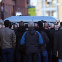 Gardaí maintain presence in Dublin 8 as David Byrne funeral takes place