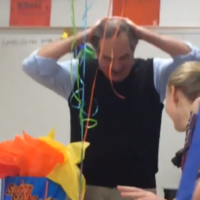 These students threw a surprise party for their teacher and he started crying