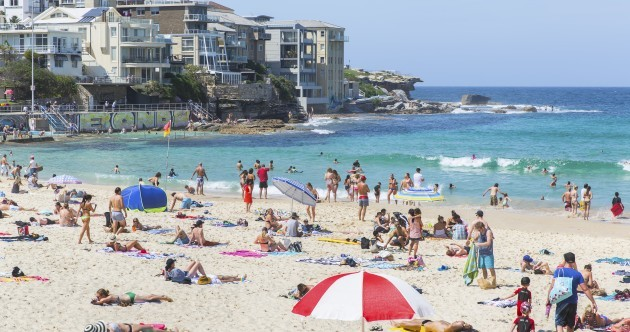 Shark detection buoys are being trialled off Australia's Bondi beach