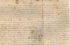 A letter a Frenchman sent to his mother in 1870 has turned up in Australia