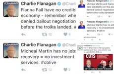 Matchy-matchy: Fine Gael ministers send the same tweets, word for word, during live debate