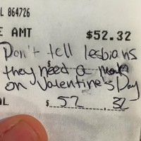 A chef told this lesbian couple that they need a man, so they left him this excellent tip