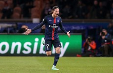 Substitute Cavani has final say as PSG edge thrilling last 16 first-leg