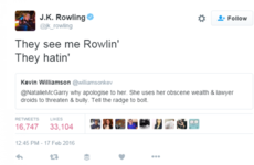 JK Rowling responded to a hater on Twitter in the best way possible last night