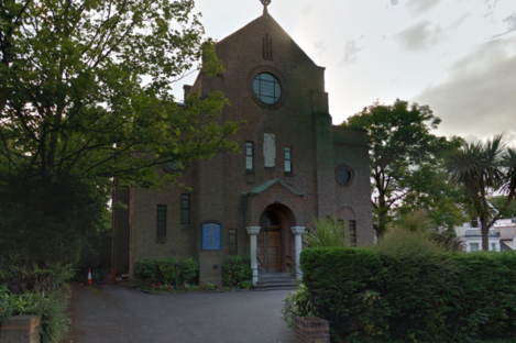Our Lady of Muswell Roman Catholic Church in North London where William Kelly regularly attended mass.