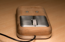Sick of his old mouse, this guy decided to make his own...from wood
