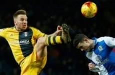 Blackburn's Irish midfielder needed 20 stitches after headbutting Jamie O'Hara's studs