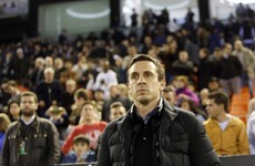 Six-goal win takes heat off birthday boy Gary Neville