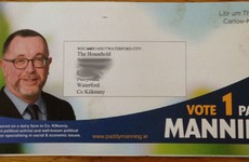 Waterford people won't be one bit happy with the address on this campaign leaflet...