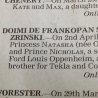 14 of the most hilariously posh birth announcements ever published
