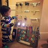 A dad has come up with the most 'dad' solution to keeping his toddler entertained
