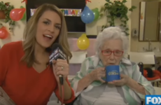 This 110-year-old woman couldn't give a crap about being on TV