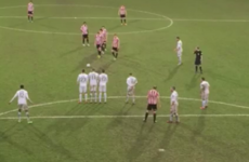 Cheltenham Town treat us to one of the all-time great free-kick routines