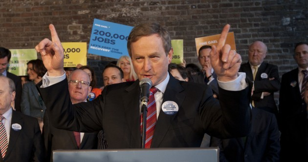 An absolutely roaring Enda slams 'economic cesspit' that Fianna Fáil left behind