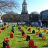On a busy campus, an empty bag for every young life lost by suicide