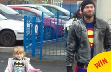 This dad dressed up as a superhero to make his daughter feel comfortable