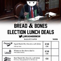 This Dublin eatery threw some serious shade with their clever 'Election menu'