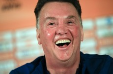 Louis van Gaal's press conference took on a rather raunchy tone earlier