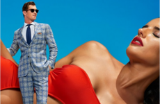 People aren't too happy about this suit company using half-naked women in their ads