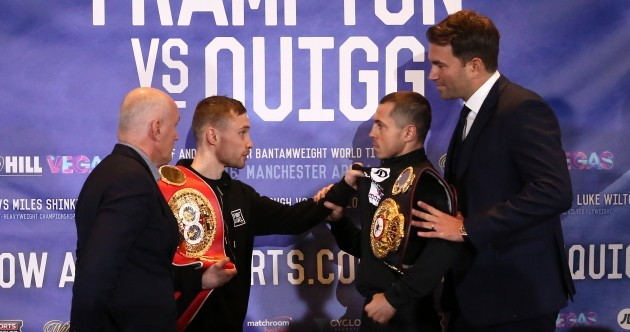 Carl Frampton plays some Stevie Wonder to wind up Quigg in dressing room row