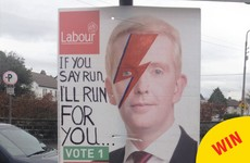 This David Bowie-themed election poster spotted in Galway is a work of genius