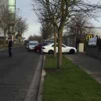 Gardaí in Tallaght had to direct traffic at the McDonald's free breakfast this morning