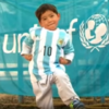 Remember the boy with the plastic bag Messi shirt? His hero sent him the real deal to wear instead