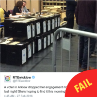 Spare a thought for the Arklow voter who lost her engagement ring in the ballot box