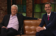 Richard Gere was mortified by the whole Late Late Show audience last night