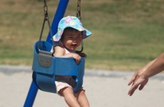 Man trapped in kid's swing for nine hours has to be cut free