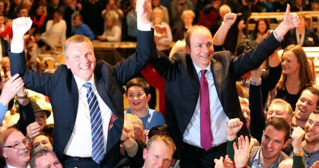 WHERE IT'S AT: Neck and neck between Fianna Fáil and Fine Gael as counts go through the night