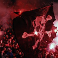 One of the most intense football derbies took place yesterday and the photos are incredible