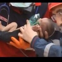 WATCH: Two-week-old baby rescued after Turkish quake