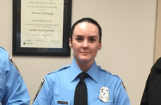 US police officer shot dead on her first shift