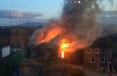 Firefighters are battling a huge blaze in south Dublin