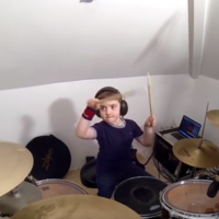 This Kilkenny lad is only seven and is already an absolute hero on the drums