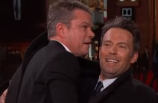 Take a break and watch Ben Affleck smuggle Matt Damon onto a chat show