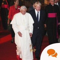 Pope's visit: Blimey. What to say to the Pope? A good joke ought to clinch it. . .